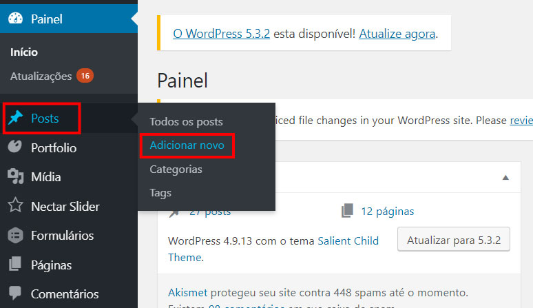 Como fazer um posts pelo WordPress